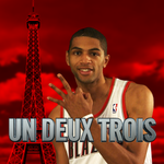 Un, Deux, Trois! POR leads 82-79 with 6:38 left in the game. http://t.co/O0V4E6zWwP