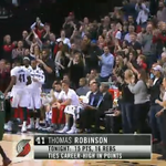 Standing ovation in Portland for Thomas Robinson http://t.co/E3H9JbUiA1