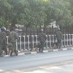 Situation around Parliament building at the moment, its gonna be a long day this! #SecurityBill #OccupyParliament http://t.co/9LgnCMOuR5