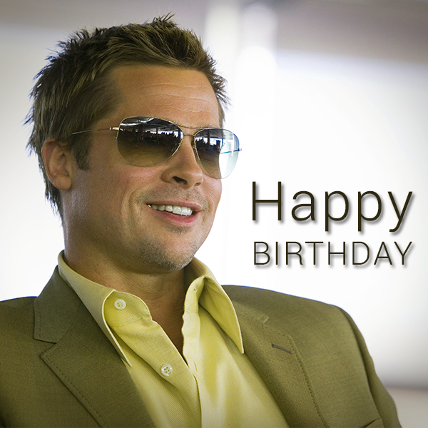 Brad Pitt's Birthday Celebration | HappyBday.to Brad Pitt Movies List
