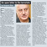 RT @htcity: 'I was not moved, I broke down' @AnupamPkher pens a heartfelt open letter on the #PeshawarAttack http://t.co/PbZe0jwbfD