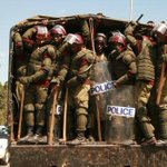 No they arent going after rustlers* neither Shabaab but Kenyan citizens protesting #SecurityBill #OccupyParliament http://t.co/ETjnHD2wCF
