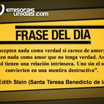 Le compartimos la #FraseDelDía de Edith Stein (Santa Teresa Benedicto de la Cruz). http://t.co/QessK0XLa9