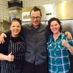 Look who just dropped in for a quick smokey snack! Hope you enjoyed and best of luck to Hugh Jnr! @rivercottage http://t.co/y4siw6Q9Cm