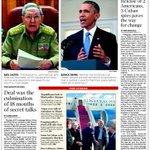 Todays @MiamiHerald front page with full coverage of the U.S.-Cuba thaw. http://t.co/2q0ovqJrSa