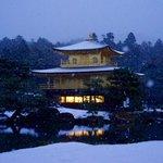 今日の金閣寺は滅多に撮影出来ない雪の降る1枚になりました。 α7Rとカールツァイスレンズの性能の高さを思い知った1枚です。 #金閣寺 http://t.co/a3O2LaObNc
