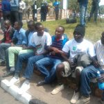 Protestors arrested outside Parliament protesting against #SecurityBill #OccupyParliament #Tumechoka http://t.co/hl7jCfE0WA