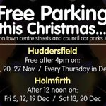 #Huddersfield. Its FREE PARKING after 4pm today in Town on the streets and in Kirklees car parks.ALL shops on VH http://t.co/ASRxDM0k9W