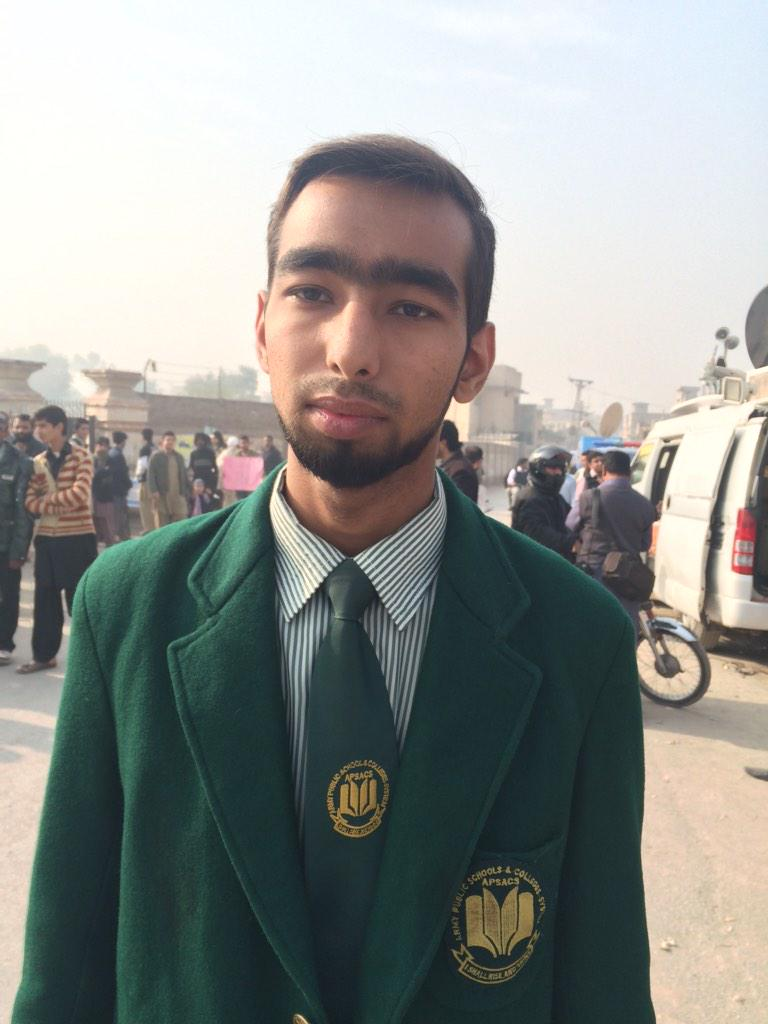 """""""You can take away my teachers,my friends.Im still here in my uniform-I'll go back to school""""18yr old Aakif #Peshawar http://t.co/UVQiOiEb6c"""