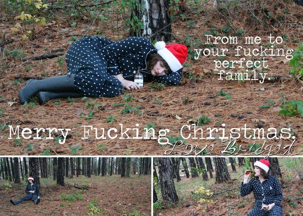 Single woman sends brilliantly sarcastic christmas cards after ...