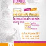 #UnivNantes accueillera ses étudiants étrangers du 5 au 30 janvier au Guichet Unique #Welcome http://t.co/LV0cZnKkhN http://t.co/2IsaQqBQ7N