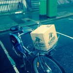 Getting our #craftbeer out in #Dublin today via @dublinbikes2go #christmastraffic #beeronabike http://t.co/t37fTi37hW
