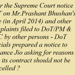Has Prasad not blocked notice to Reliance Jio wrt 4G case for over 3 months ? #BJPScamsBegin http://t.co/PeVvi4sRIf