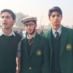 3 APS students who came today in full uniform saying they came back to study! Their message to terrorists—You Lost! http://t.co/4oRB2TrdYC