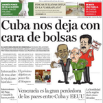 #18D [Titulares] Zulia. La Verdad. Cuba nos deja con cara de bolsas. #360UCV http://t.co/54EnUilXGd