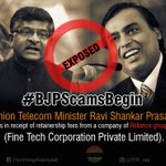 """""""@HHK_aap Ravi Shankar Prasad is in receipt of retainership fees from a company of Reliance group #BJPScamsBegin http://t.co/hvefPlpzLl"""