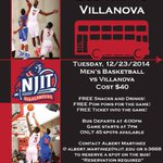 Highlander Fans! Reserve your tickets today for the 🚎 trip to Villanova on December 23...@NJIT @NJITAD @NJITResLife http://t.co/M1AQ90kVfg