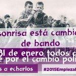 Cuando mientan, difamen o insulten: sonreid. La sonrisa también esta cambiando de bando. #2015EmpiezaElCambio http://t.co/s7bIeEqpgx