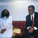 Exclusive picture of Ravi Shankar with Ambani-ji, no-no not the Ravi Shankar of #BJPScamsBegin fame http://t.co/n50NhwvYJC