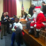 #Santa spreading #Holiday Cheer to #students @ #StatenIslands P.S. 373 ???? http://t.co/5W5bSyBgMO