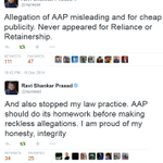 Blow to #AAPTards who blindly tweeted #BJPScamsBegin. @rsprasad answered to (P)AAP. Will @ArvindKejriwal apologize? http://t.co/xy9L97y3tR
