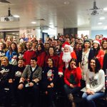 Its Christmas Jumper Day here @TwitterDublin and we also had a visit from a man in a red/white suit!! http://t.co/MJmAxa560N