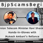 Ravi Shankar Prasad caught #BJPScamsBegin #BolModiBol http://t.co/OcRzker1YD