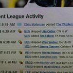 Based on the fantasy football move that @mortreport made at 6:39 am, he must know something I dont... http://t.co/StSGzGllyy
