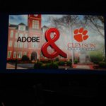 Great to see Clemson featured on big stage at @AdobeWWFOs #WWSC15! Thank you, @jimbottum! #worktogetherwintogether http://t.co/KDWpyl1tpe