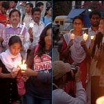 Candle light march for Peshawar terror attack victims in Bangalore http://t.co/wZbDKTvouK