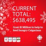 CBC Calgary @suncorenergy @CalgaryFoodBank Drive total update, way to go Calgary! #cbcfeedsyyc #yyc http://t.co/GzdvaEduGn
