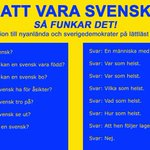 Att vara svensk - så funkar det! #svpol #SD https://t.co/5ROIS0JIgy http://t.co/zaDSZAOFhQ