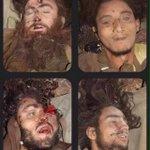 Peshawar school terrorist .. Totoos on the back of terrorist. PESHAWAR http://t.co/VtMt86fPEc