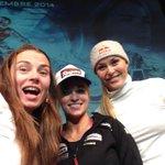 Selfie at press conference in #Valdisere with @Laragut & @lindseyvonn http://t.co/udeWd113BT