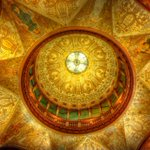 Love at first sight. Rotunda ceiling @FlaglerCollege in St. Augustine, FL. #staugustine #flaglercollege #hdr http://t.co/0yMBBexIKu