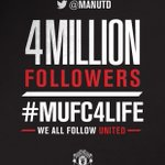 Thank you to all our fans for helping us reach four million followers on Twitter! #mufc4life http://t.co/C0Xwfni21w
