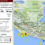 Sismo de 4.7 grados se registró a las 9.03 horas con epicentro al suroeste de Escuintla. Fuente: @ConredGuatemala http://t.co/FTHwV9jLgL