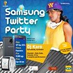 1hr to the mighty party #SamsungTwitterParty cc @SamsungMobileUg @MushroomInc @Midea_Biz @mtnug http://t.co/LVUXsEtL4o