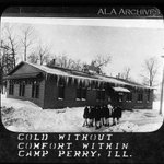"""Brr! """"Cold Without Comfort"""" at Camp Perry, Illinois in WWI, but the library looks warm! #tbt http://t.co/eh5Mlv1o1m http://t.co/eqV80dRzoA"""