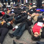 Clergy die-in on Broadway and 121st Street. #ThisStopsToday #BlackLivesMatter #NYC #EricGarner http://t.co/SfWvQulsAB