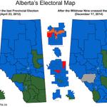 How yesterdays 9 Wildrose MLA floor crossing changes Albertas political map. #ableg #wrp #cdnpoli http://t.co/tbptUJZY7P