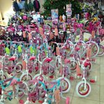 Bikes and toys lined up for Toys For Tots donation at @Hyundai plant in #montgomery http://t.co/JiP7ovsaio
