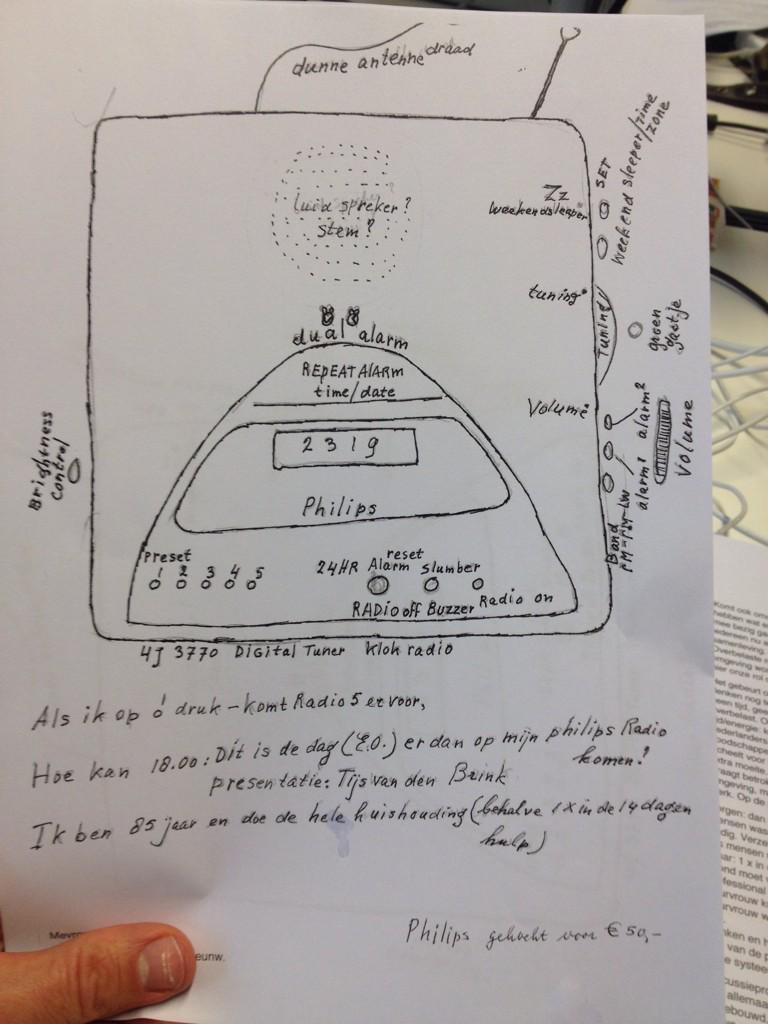 Ontroerend: 85-jarige luisteraar vraagt hulp bij het op #nporadio1 zetten van haar toestel door toestel te tekenen... http://t.co/xUhVYLY2oe