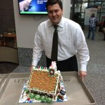 Thanks to @FoxMorningNews @BobGrebe for this wonderful gingerbread house for the @CarilionClinic Childrens Hospital. http://t.co/JF8hCmIZIT