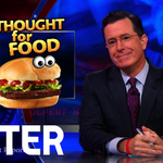 Heres a montage of every Colbert Report food moment ever: http://t.co/CFOSrEpmji http://t.co/ZXDg9SfcjB