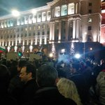"""Street #protest in #Sofia, #Bulgaria. Against gov plans to nationalise #pension systems second pillar """"@galiato: http://t.co/TAitOolDS2"""""""