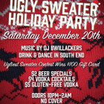 Ugly Sweater Party w/DJ, Ugliest Sweater Contest $100 GiftCard. $2 Beers, $4 Vodka, $5 GlutenFree Vodka @SouthEndCLT http://t.co/FDUKbXGarK