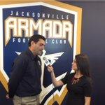 Heres @kandaurjax interviewing @ArmadaFCAdmiral for Armada Kickoff on @CWYourJax. Friday 9:30pm, Sunday 6:30pm. http://t.co/wSxKAdM0Do