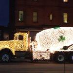 Seen in Burlington, just as it was getting dark. Festival of Lights on wheels. #vt #holiday http://t.co/adoRWaP84a