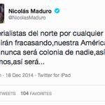 Maduro lucha contra el imperialismo de Estados Unidos usando Twitter for iPad. Vas bien, sigue así. http://t.co/vIuTsas3av